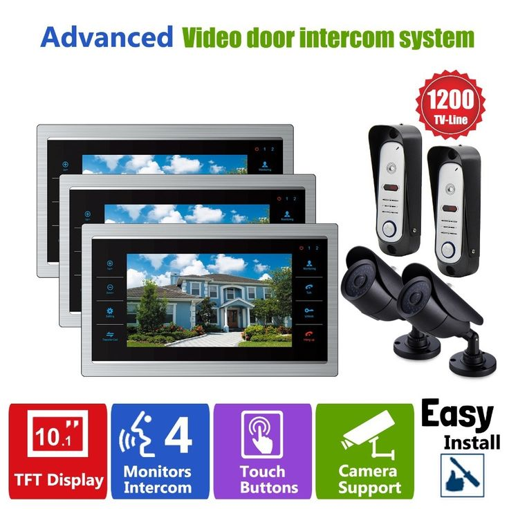 563.26$  Buy here - http://alix6o.worldwells.pw/go.php?t=32431051308 - Homefong Home Video Phone Wired Video Doorbell Intercom System Security CCTV Camera Waterproof  Wide Angle 3V2V2 Indoor Monitor