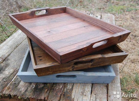 Классные деревянные подносы. Для дома или для фуд-фото.