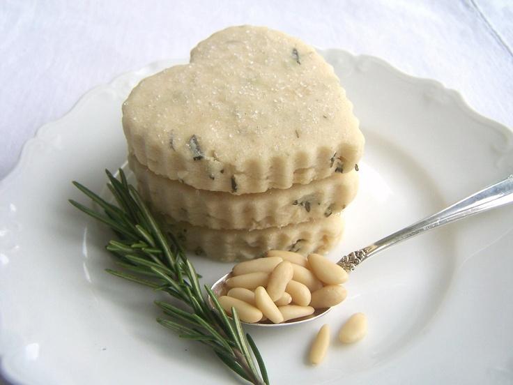 Rosemary Pine Nut Shortbread Cookies 1 Dozen. $13.50, via Etsy.Valentine Cookies, Rosemary Pine, Handmade Rosemary, Cookies Gift, Pinenut, Food Sweets, Nut Shortbread, Shortbread Cookies, Pine Nut
