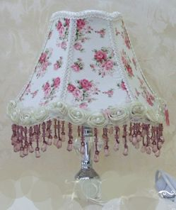 lavender shabby chic | Shabby chic victorian vanity lamps