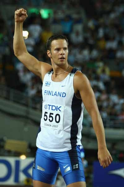 Tero Pitkamaki is a javelin thrower from Finland who medalled in Beijing.
