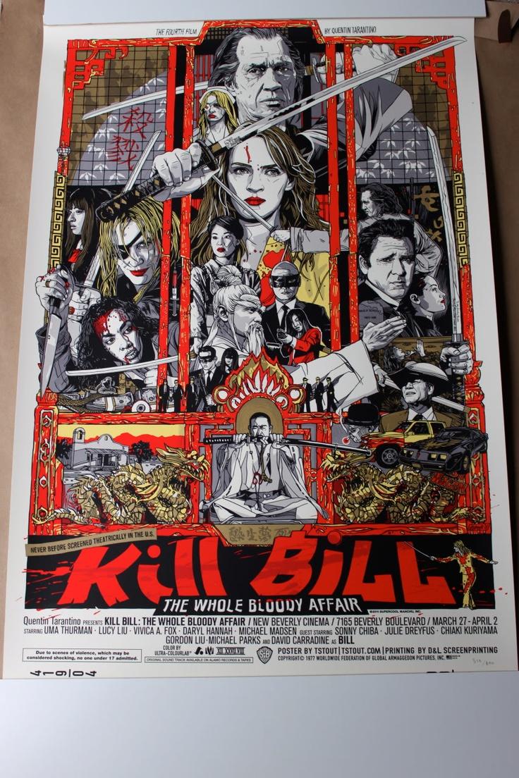 Mondo Kill Bill By T Stout Poster De Cine Poster De Peliculas Carteles De Cine