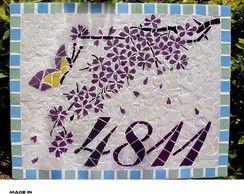 Numero Residencial em Mosaico