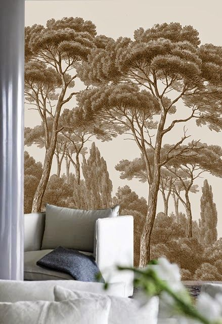 ananb pins et cypr s un d cor tout en d licatesse wallpaper wall mural pinterest. Black Bedroom Furniture Sets. Home Design Ideas