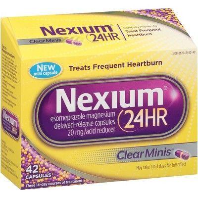 Nexium 24HR ClearMinis Delayed Release Heartburn Relief Capsules, Esomeprazole Magnesium Acid Reducer - 42ct