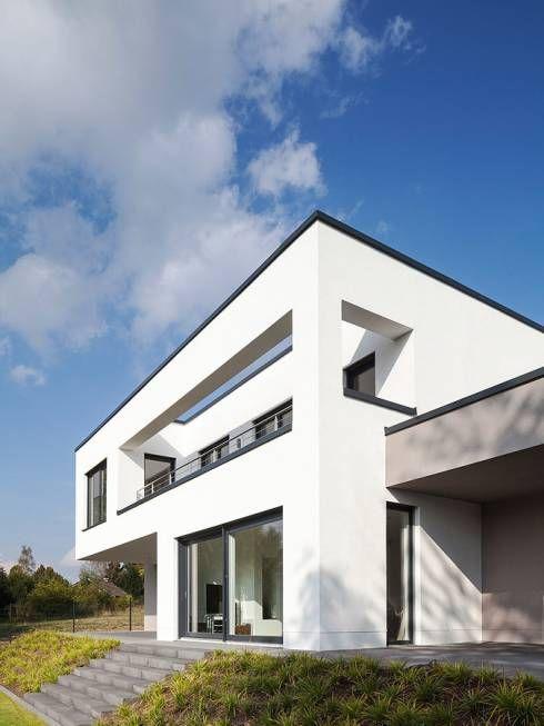 Schöne Durchblicke: Minimalistisch Häuser von Skandella Architektur Innenarchitektur