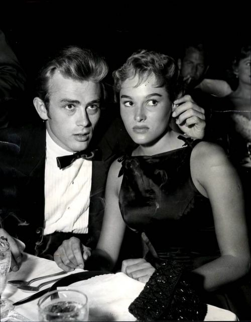 James Dean & Ursula Andress at Ciro's Nightclub in LA, August, 1955.