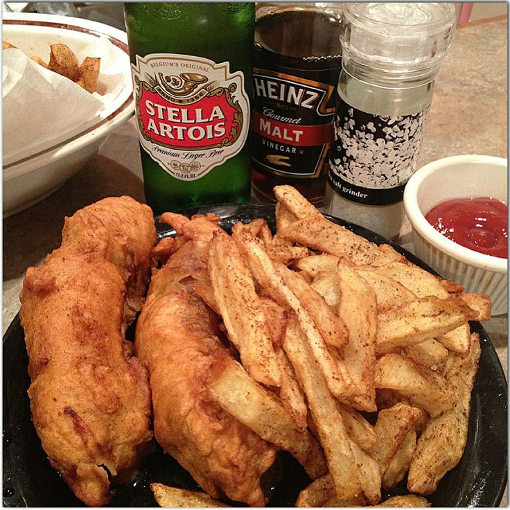 My mans favorite dish, from yours truly ❤ Beer battered sausage and chips - British style Ahhhmazing!
