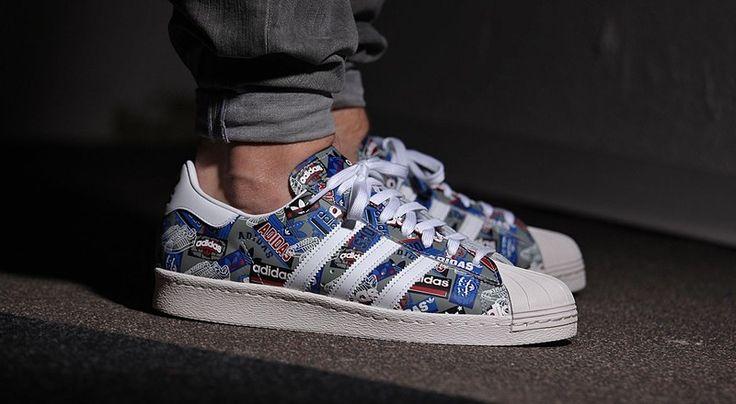 Multicolor Adidas x Nigo Superstar 80s Sneaker