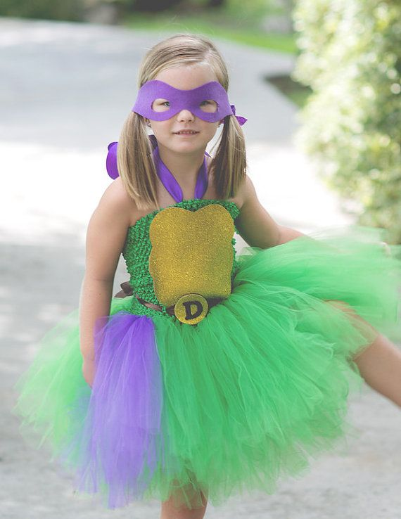 Ninja Turtle tutu dress costume. Hey, I found this really awesome Etsy listing at https://www.etsy.com/listing/474808921/donatello-costume-ninja-turtle-tutu