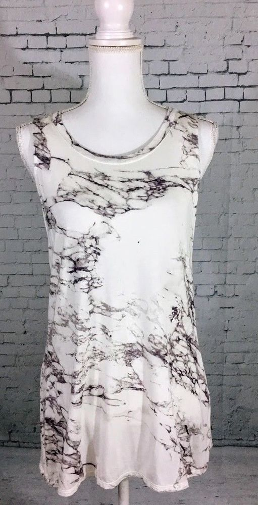 bed72d0e8c81b2 NWT ROSE   OLIVE WOMEN S MULTI-COLOR Marbled SLEEVELESS TUNIC Tank Top Sz M