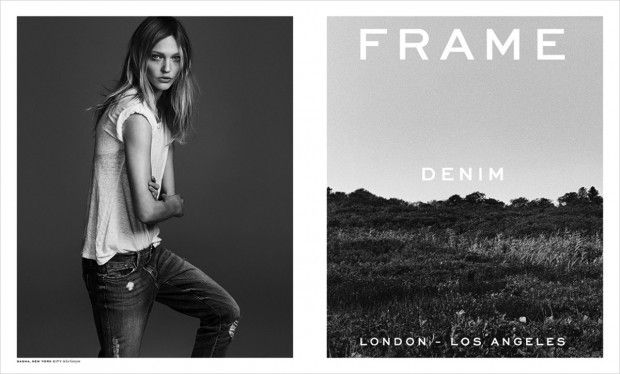 Sasha Pivovarova for Frame Denim Spring Summer 2015