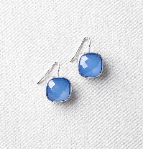 Casted Square Gemstone Earrings - LOFT ($24.50)