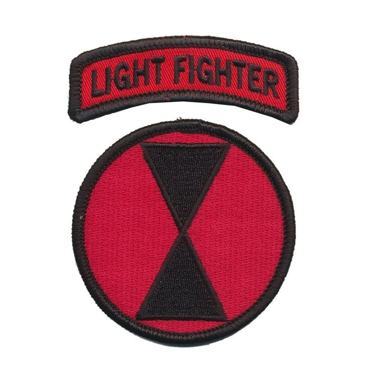7th Infantry Division Dress patch with Lightfighter Tab - US Ranger-Sniper-EIB