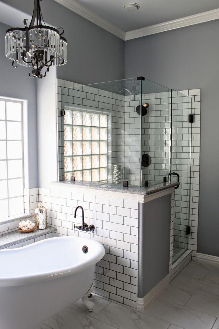 Best 25+ Half wall shower ideas on Pinterest | Shower with ...