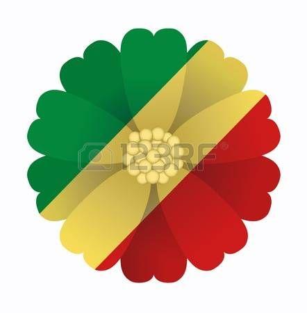 illustration of flower Flag Republic of the Congo photo