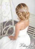 Свадебная прическа с локонами