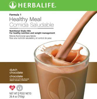 Rico Sabor a Chocolate. Para bajar de peso recuerde sustituir una comida por un Batido de Herbalife www.goherbalife.com/nutricel/es-US/Catalog/Control-de-Peso/Formula-1