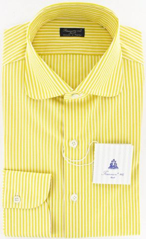 Finamore Napoli Yellow Shirt – Size: 16 US / 41 EU