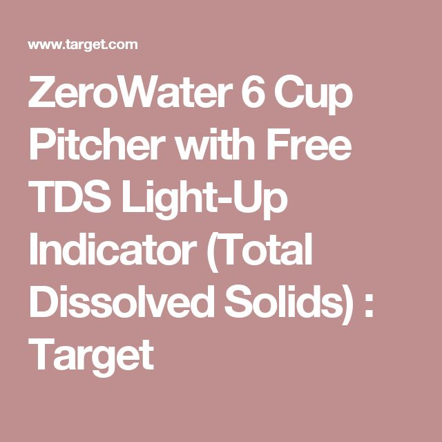 ZeroWater 6 Cup Pitcher with Free TDS Light-Up Indicator (Total Dissolved Solids) : Target