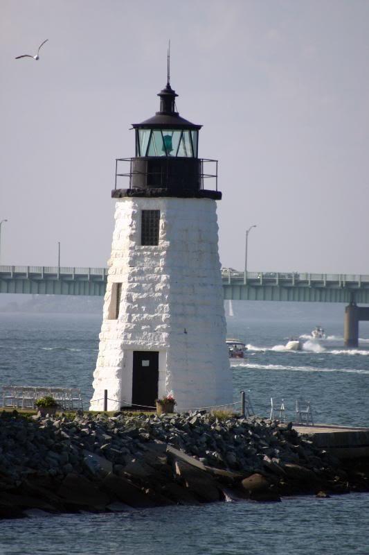 New England Lighthouses: Goat Island Light (Maine) Goes ...  Goat Island Lighthouse