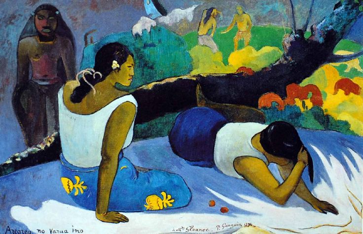 Paul Gauguin - Post Impressionism - Tahiti - Sous l'empire du revenant, l'amusement du mauvais Esprit - 1894