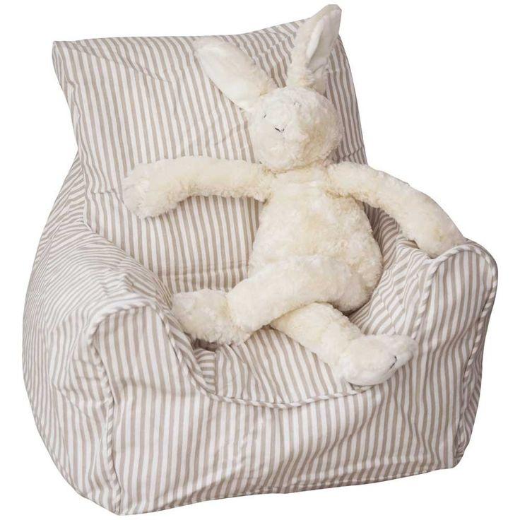 Natural Stripe Bean Bag Chair | JoJo Maman Bebe