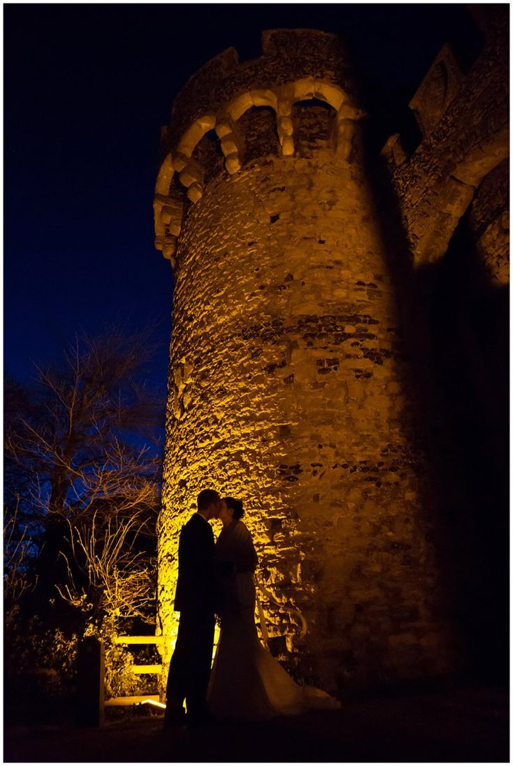 Evening Wedding Photograph at Cooling Castle Barn