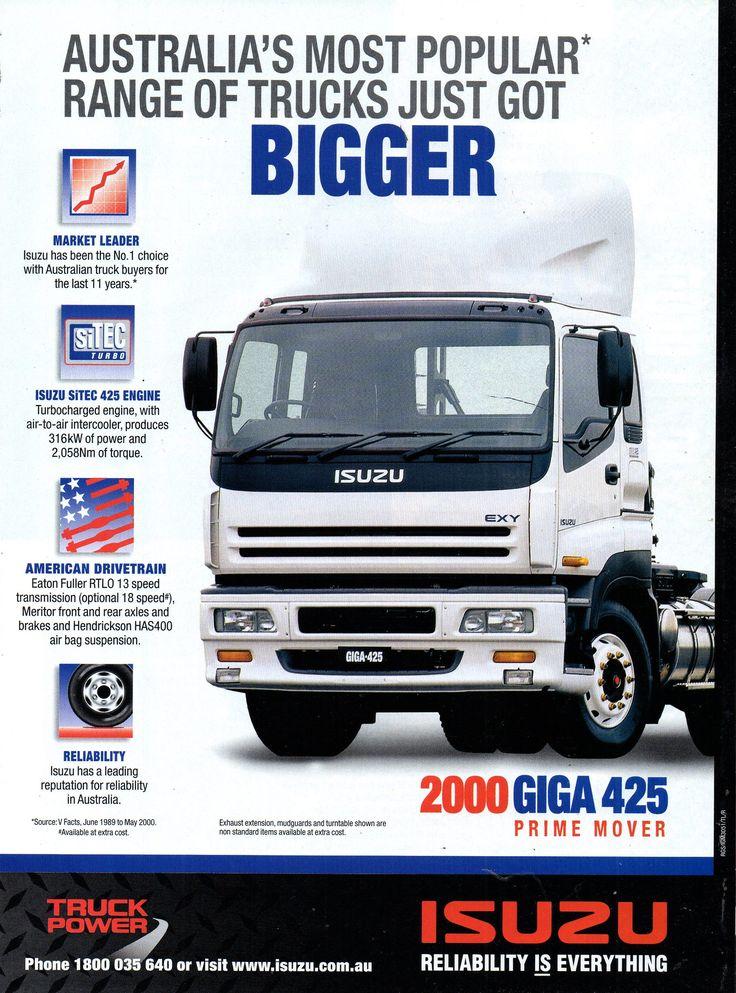 2000 Isuzu 2000 Giga 425 Prime Mover Trucks Aussie Original Magazine Advertisement Trucks Cars Trucks Eaton