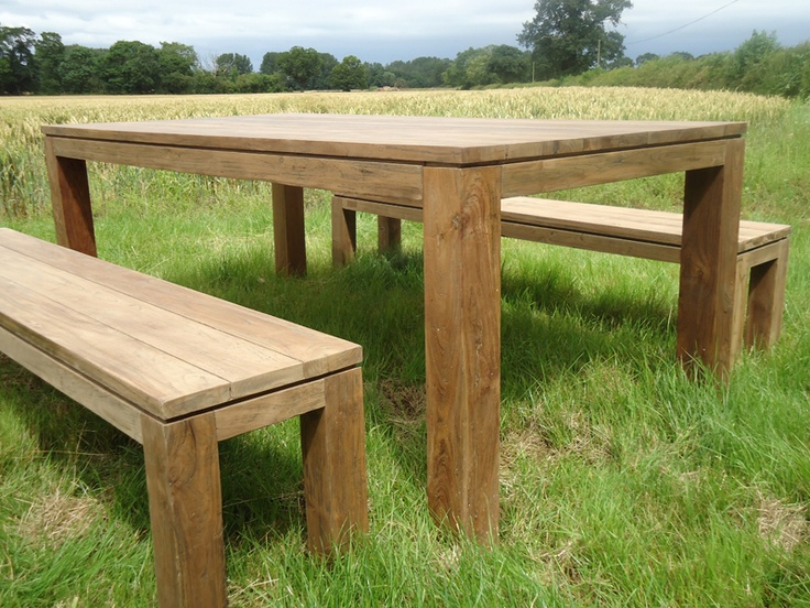 Reclaimed Bali Bench Set