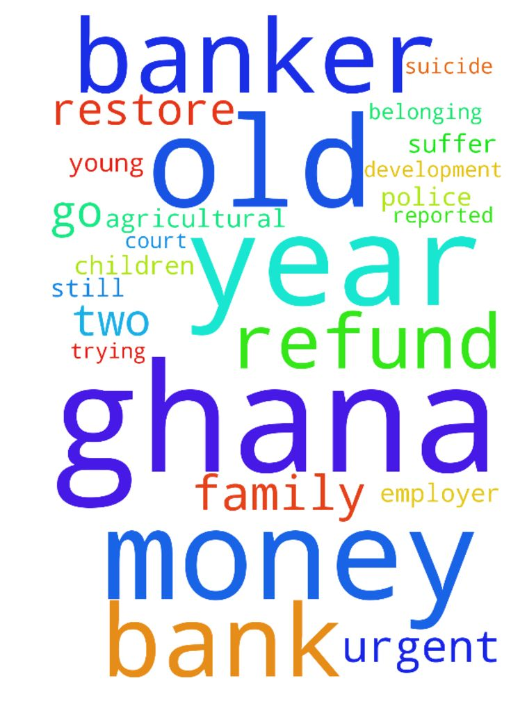 I am a 37 year old banker from Ghana. My - I am a 37 year old banker from Ghana. My employer AGRICULTURAL DEVELOPMENT BANK GHANA has reported a case to the police against me for taking some money belonging to the bank. i have admitted and asked for time to refund the money but they are still trying to go to court and jail me. i have a young family with two small children who would suffer. I have contemplated suicide, i cannot stand the pressure and embarrassment. Man of God please help me…