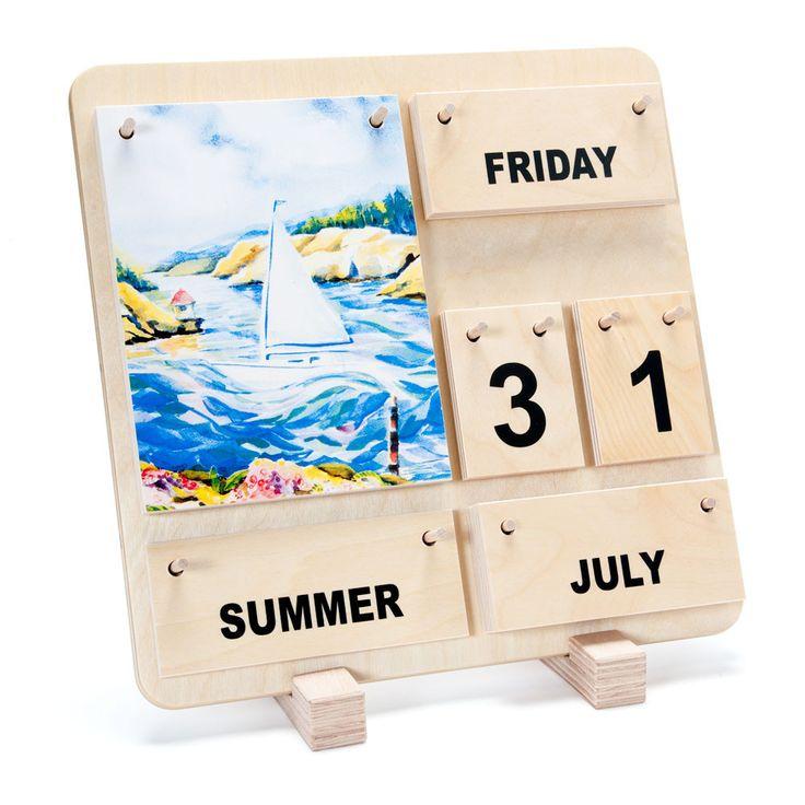 A wonderful perpetual calendar from Germany.