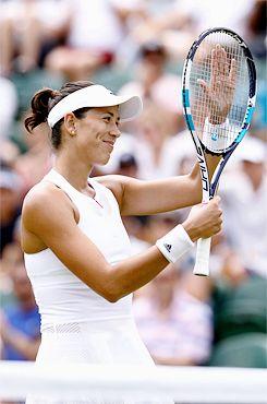 Garbine Muguruza d.  Sorana Cirstea on day six of the Wimbledon Championships at the All England Lawn Tennis and Croquet Club on July 8, 2017