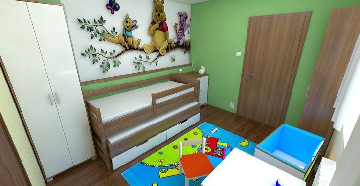 Návrh a vizualizácia nábytku a usporiadanie detskej izby. Sčasti podľa Feng-shui