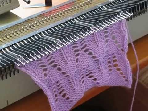 2 образец Изба-вязальня. Видео уроки машинного вязания. Ажурные волны