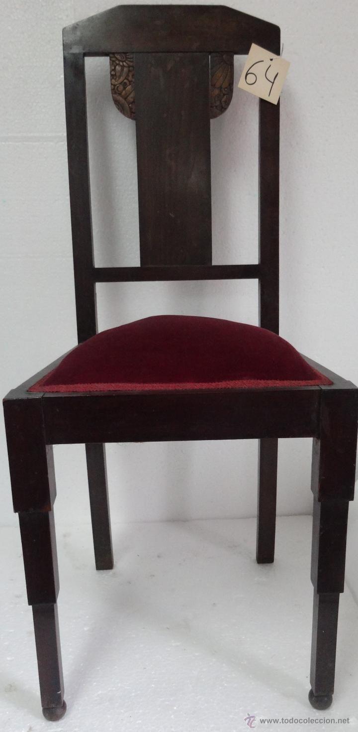 PAREJA DE SILLAS SIGLO XX-64 (Antigüedades - Muebles Antiguos - Sillas Antiguas)