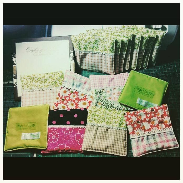 Handmade fabric coaster (600 pcs in total) for souvenirs in my daughter's wedding reception on September 13, 2015.