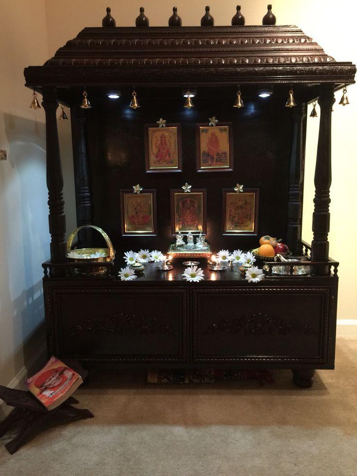 63 best Pooja Cabinet images on Pinterest Puja room Prayer room