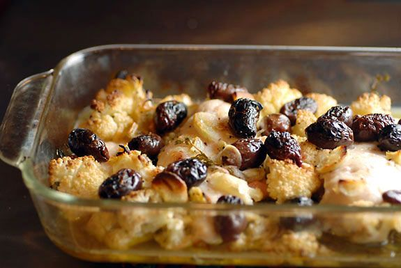 Chicken with Cauliflower and Olives on http://www.elanaspantry.com