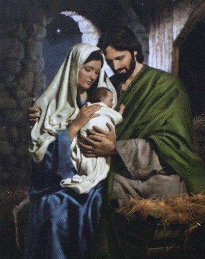 Mary and Joseph with the baby Jesus - image on lgwilliams blog