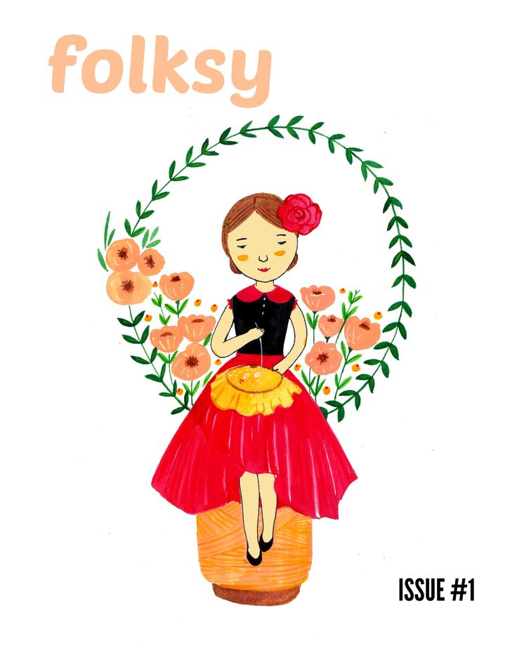 folksy 1st edition (July 2014). Cover illustration by Ika Damayanti