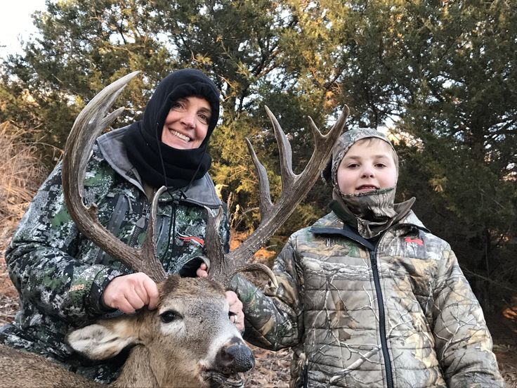 My Wife hammered this old Bruiser at our Kansas Ranch!  My 11 year old son Andrew was her Guide!