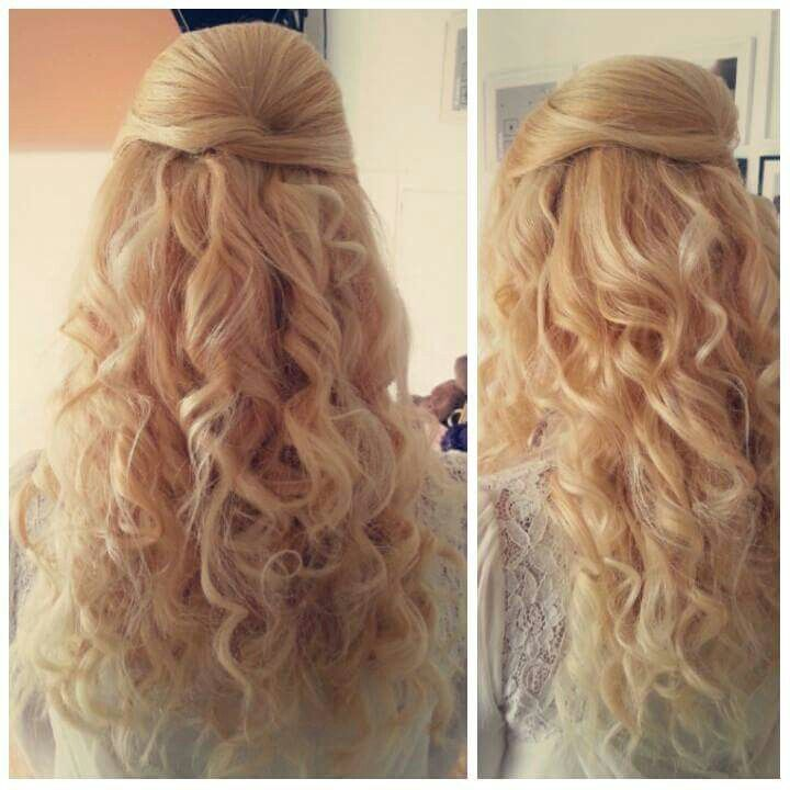 Curls half up