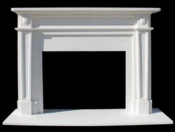 English Regent Marble Mantel | White Fireplace Surround Marble | New York