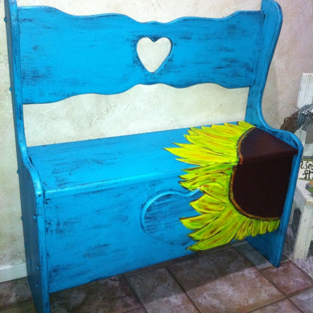Diy Painted Bench Painted Furniture Love It Pinterest