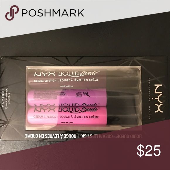 NIB NYX Suede Liquid Lipstick Set 100% authentic. Brand new, never used. Makeup Lipstick