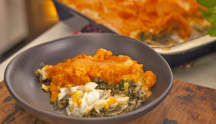 Snapper and Kale Pie - Good Chef Bad Chef