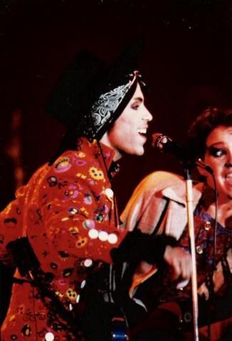 "Prince in concert in France during the Under The Cherry Moon filming, 1985. (The ""America"" video was taken from this show)"