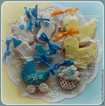 """Кулинарные сувениры ручной работы. """"Baby set"""" прянички на День Рождения малыша. Козули от Викули. Интернет-магазин Ярмарка Мастеров."""