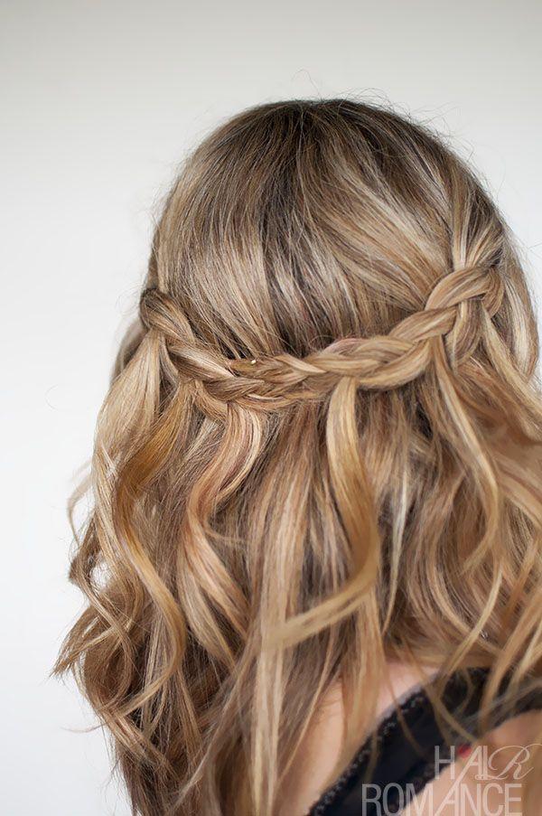 Hair Romance - Waterfall Plait - braid hairstyle tutorial